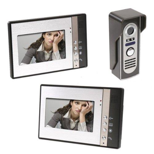 KKmoon 7 Inch Video Door Phone Doorbell Intercom Kit 1-camera 2-monitor Night Vision by KKmoon (Image #9)