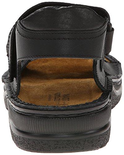 Naot Mens Lappland Leather Sandals Matt Black
