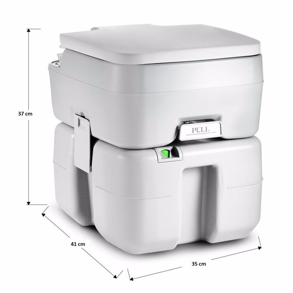 SereneLife Portable Toilet Potty Seat - with Piston Pump Flush, Cover and 5.3 Gallons of Water Tank Capacity for Travel, Camping, Hiking & Other Outdoor or Indoor Activities - SLCATL320 by SereneLife (Image #2)