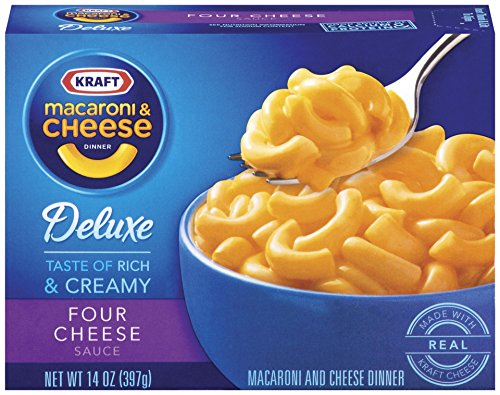 Kraft Deluxe Four Cheese Macaroni & Cheese Dinner (14 oz Boxes, Pack of 4)