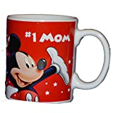 Authentic Disney Mickey Mouse & Friends #1 Mom 11oz Coffee Mug Cup White