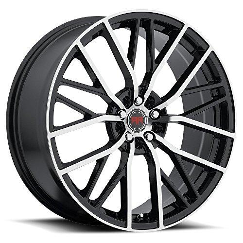 Racing Revolution - Revolution Racing RR07 20x8 5x110 5x114.3 +40 Offset Black Machined Wheel Rim