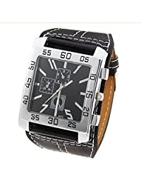 Hot Selling Fashion Luxury Clock men Brown Leather Strap Watch Men Big Pointer Dial Casual Sports Quartz Watch Male Hours