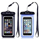Image of Waterproof Case, Rdxone Transparent Dirtproof Sandproof Waterproof Cell Phone Case Dry Bag Pouch Perfect for Water Sports, Vacation, Cruises, Boating, Fishing, Beach, Swimming& More