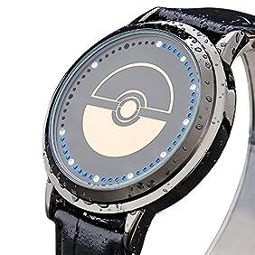 Wildforlife Anime Pokemon Poke Ball Touch LED Watch