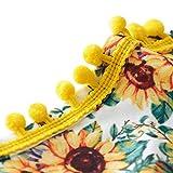 6-12 Months Unisex Baby Sun Flower Bodysuits Floral