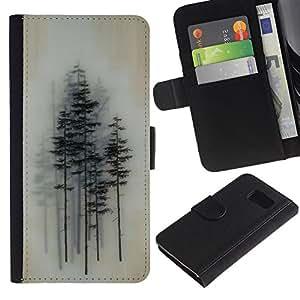 All Phone Most Case / Oferta Especial Cáscara Funda de cuero Monedero Cubierta de proteccion Caso / Wallet Case for Sony Xperia Z3 Compact // Trees Forest Art Painting