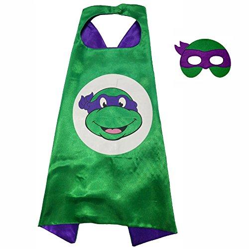 Original Superman Costume (FASHION ALICE Superhero Superman CAPE & MASK SET,Halloween Costume Cloak for Child (Teenage Mutant Ninja Turtles,Purple))