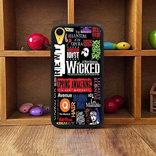 Print Soft TPU /& Hard Back Shock Absorption Scratch Proof Slim Protective Case Cover for iPhone X Broadway Musical Collage Poster Series iPhone X Case,