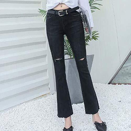 Stretch Vaqueros Black Color Jeans Slim Talla Pantalones Skinny ADEMI De Mujer YngPvYf