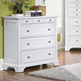 Bedroom Styles Home Styles 5530-41 Naples Four Drawer Chest, White Finish