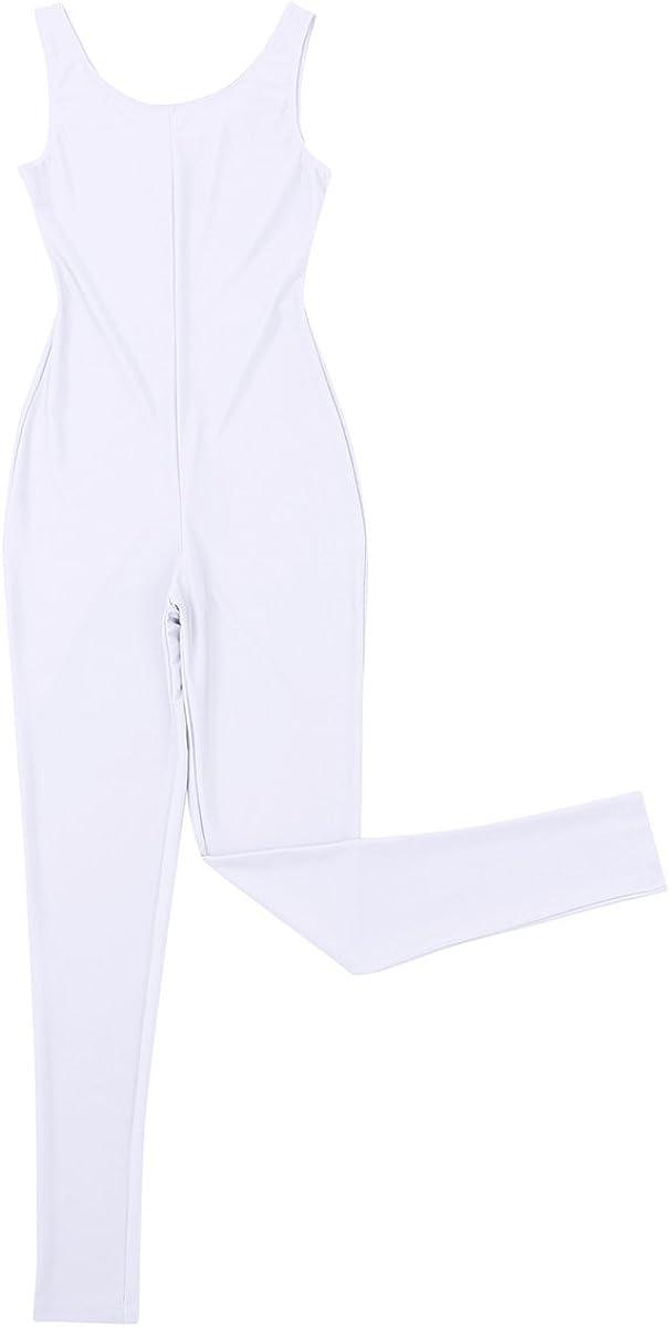 iiniim Femme Justaucorps de Danse Classique Ballet Yoga Gymnastics Sports Body Combinaison sans Manches V/êtements de Danse Bikini Uni /Élasticit/é