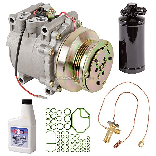 AC Compressor w/A/C Repair Kit For Honda Civic & CRX 1988 1989 1990 1991 Replaces Sanden TR70 4-Groove 9774 9784 - BuyAutoParts 60-81675RK NEW