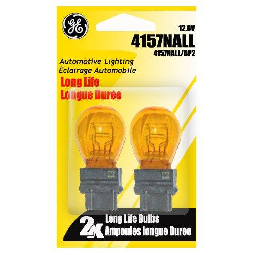 Ge Miniature Lamps 4157nakr/Bp2 12 V Amber 2 / Carded -