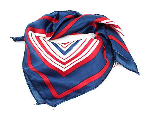 Polyester Striped Pattern Square Kerchief