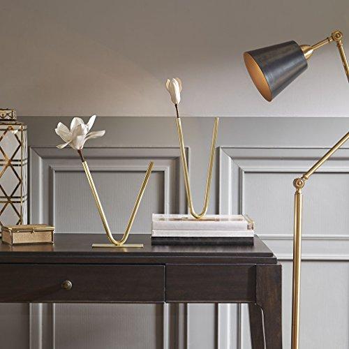 MADISON PARK SIGNATURE Hera V Shaped Tube Vase Gold Large