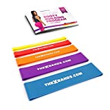 The x Bands Extra Thick Exercise Resistance Bands - Set of 2 or 5 Loop Booty Bands with Guide - Fitness Workout by 15 to 125 lb - Best for Stretching, Yoga, Legs Training, Physical Therapy