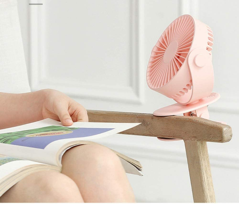 Best for Baby Stroller Gym Camping Office Qqww Portable USB Mini Fan,Rechargeable Battery Operated with Long Battery Life Travel Adjustable Speeds Mini Portable Desktop Car Outdoor Quiet