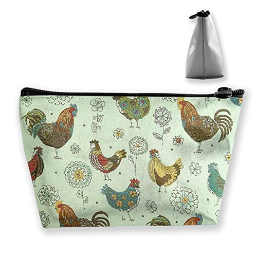 Makeup Bag Trapezoidal Storage Bag Chicken Finger Flower Portable Cosmetic Bag Ladies Mobile Travel Bag