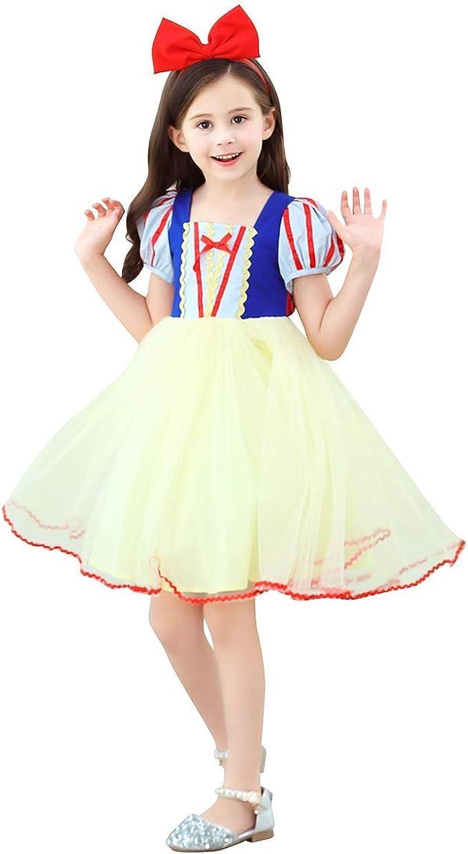 IBTOM CASTLE Bebé Niñas Blancanieves Disfraz Vestido de Princesa ...