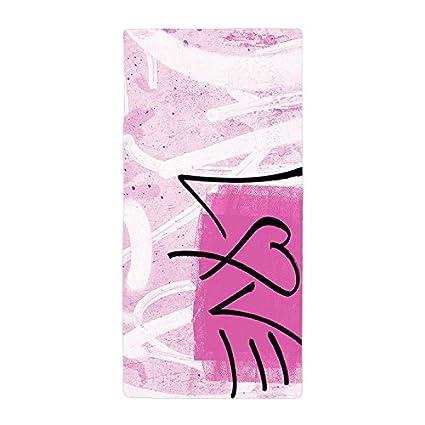 jesspad toalla de baño Graffiti rosa Amor fondo playa piscina toallas