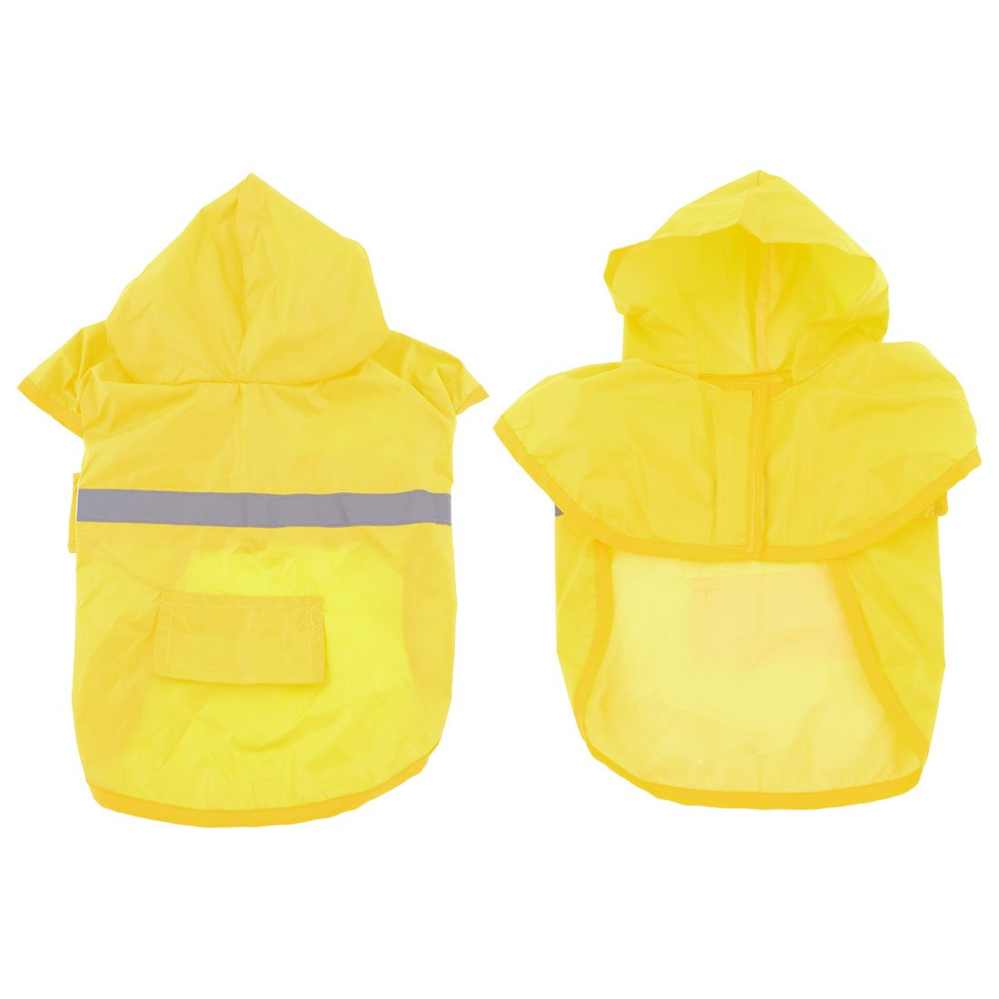 Uxcell Pet Hook Loop Closure Hooded Water Resistant Raincoat, Large, Yellow