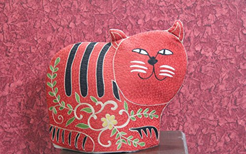 Cat Quilted Tea Cozy/Embroidered French press cosy/Teapot/cafetière/coffee plunger/kettle/percolator/server/pot/carafe/animal cozy/*** Free Delivery*** Mother's Day