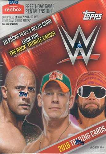 2016 Topps WWE Series Unopened Box of Packs with One GUARANTEED Relic Card Per Box plus 70 additional cards