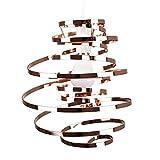 MiniSun - Contemporary Copper Metal Double Ribbon Spiral Swirl Ceiling Light Penda