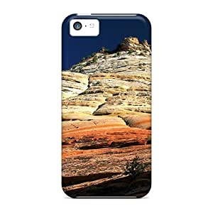 Ultra Slim Fit Hard AMGake Case Cover Specially Made For Iphone 5c- Checkerboard Mesa In Zion Np Utah