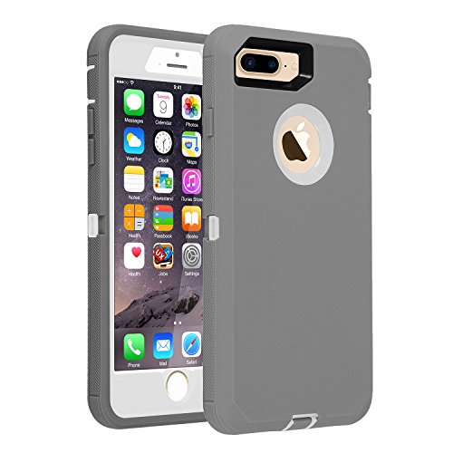 iPhone 7+/8+ Case, [HEAVY DUTY] Defender Armor 3 in 1 Built-in Screen Protector Rugged Cover Dust-Proof Shockproof Drop-Proof Scratch-resistant Shell for Apple iPhone 7Plus/8 Plus 5.5