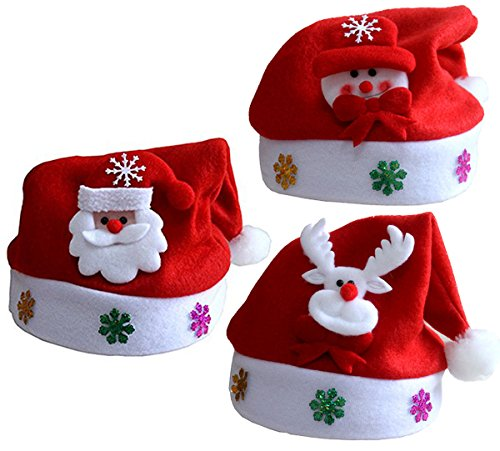 [Genluna Children's Lovely Christmas Santa Claus Snowman Elk Hat Red] (Snowman Costume Hat)