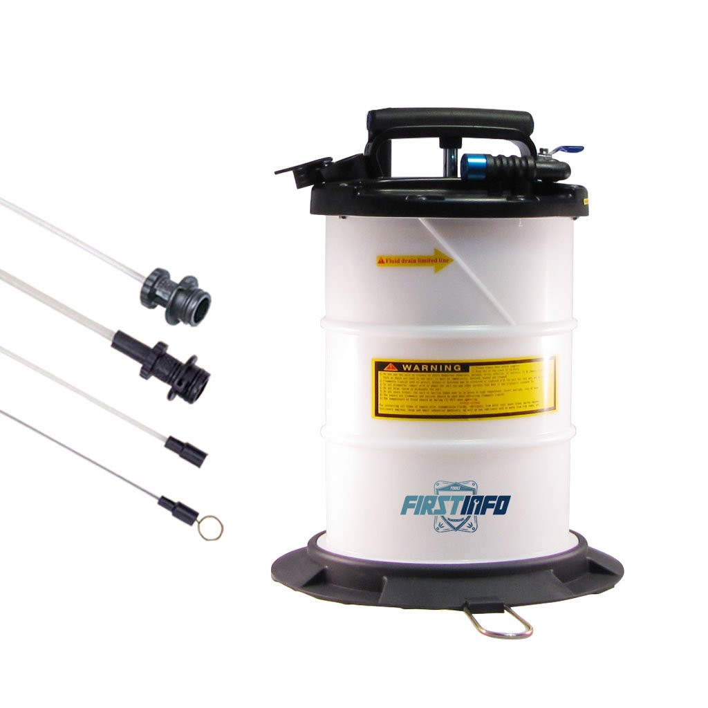 FIRSTINFO 6L Pneumatic and Manual Operation Oil or Fluid Extractor