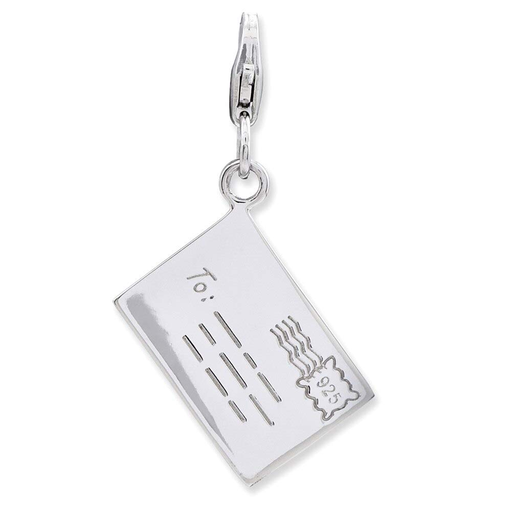 Lex /& Lu Sterling Silver Letter w//Lobster Clasp Charm