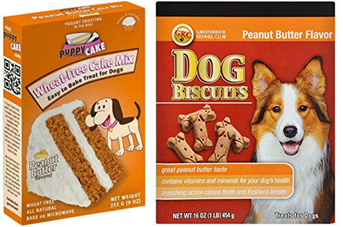 Happy Hydrant (Puppy Cake Wheat-Free Peanut Butter Cake Mix and Frosting for Dogs | Peanut Butter Dog Biscuits Treats)