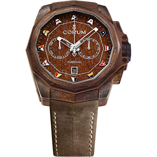 Corum Men's Admiral Ac-One 45 45mm Brown Leather Band Metal Case Automatic Watch 116.200.53/0F62 AW01