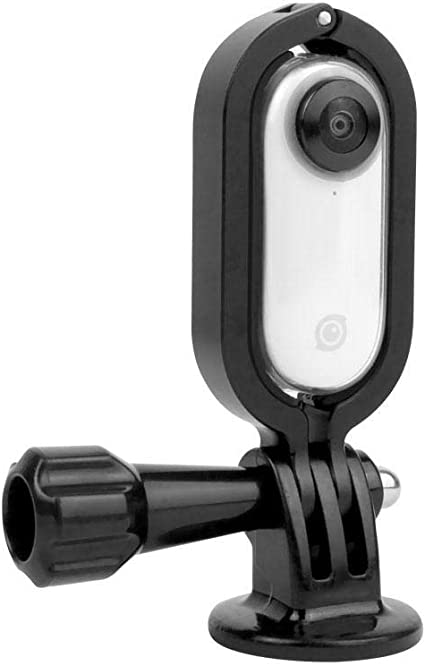 Sports Camera Protective Case Back Clip for Insta360 GO Thumb Mounting Adapter Base Extended Border Back Clamp Frame for Insta360 GO Thumb Camera