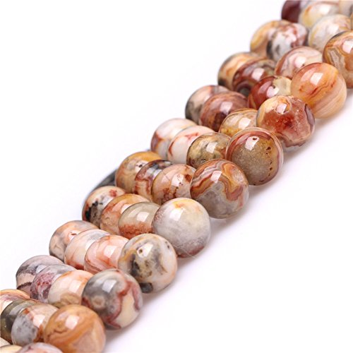- Joe Foreman Crazy Lace Agate Beads for Jewelry Making Natural Gemstone Semi Precious 8mm Yellow Round 15