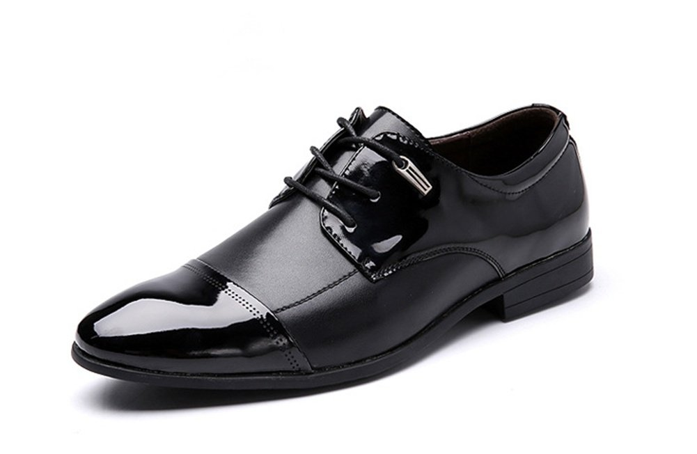 XIE Spitzemannschuhe der Männer des Außenhandels große Schuhe der Männer helle Lederne Art und Weise beschuht Hochzeitsschuhe Einzelne Schuhe 38-46