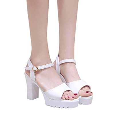8ad24df7375 Women Summer Sandals HEHEM Women Fish Mouth Platform High Heels ...