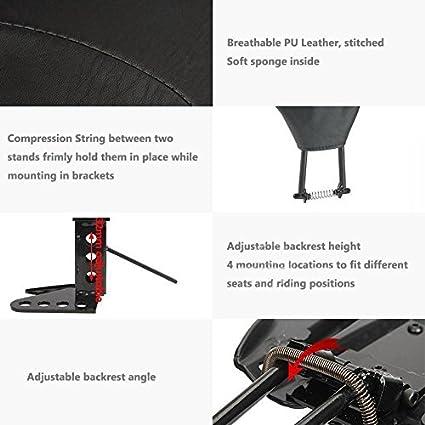 NBX Adjustable Driver Rider Backrest For Compatible with Harley 1988-2008 Street Glide Back Rest