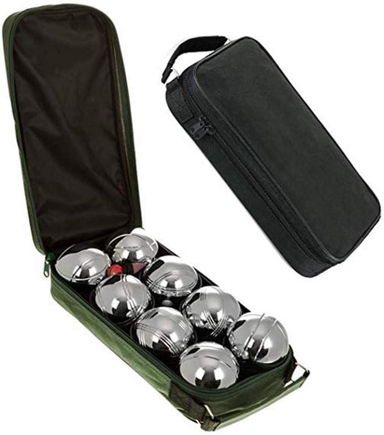 LGFB Metal 73 mm sólido 8 Bola Francesa Juego de Petanca de Acero Inoxidable Deportes al Aire Libre Hierba Tierra Juego de Interior Petanca y Petanca Durable Juego Grande Cazadores Esfera