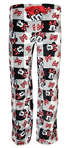 Disney Minnie Mouse Superminky Fleece Sleep Pants - Large (Disney Adult Outfits)
