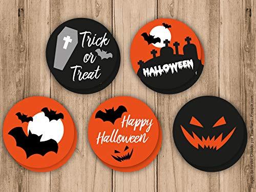 10 Pegatinas de Halloween, ideales para cerrar las bolsas de ...