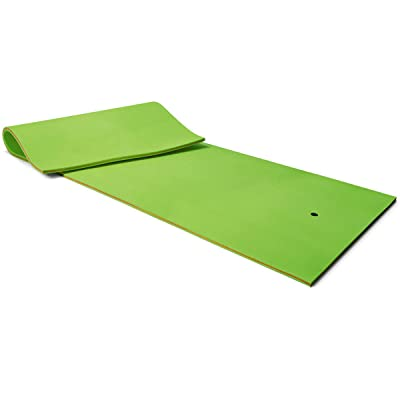 Goplus 12' x 6' Floating Water Pad, 3-Layer Tear-Resistant XPE Foam Mat, Roll-Up Floating Island for Pool Lake Ocean Boat (Green): Toys & Games