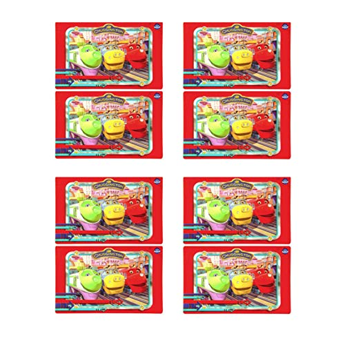 (Zak Chuggington Party Supplies - Set of 8 Chuggington Train Vinyl Placemats)