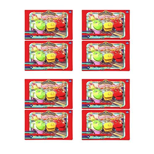 (Zak Chuggington Party Supplies - Set of 8 Chuggington Train Vinyl Placemats)