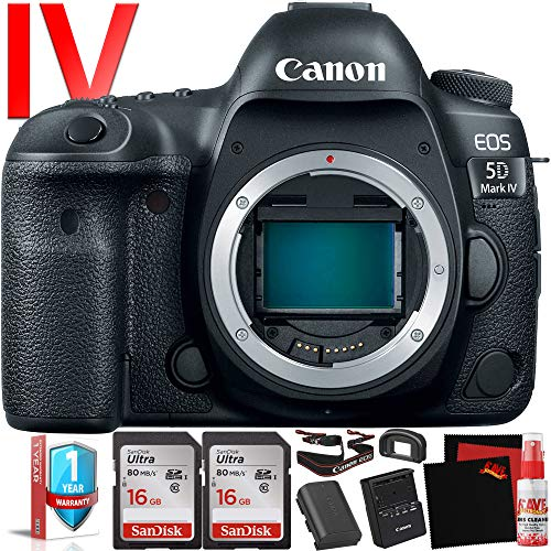 Canon EOS 5D Mark IV DSLR Camera (Body Only) (International Version) - 30.4 Megapixel - 4K Video with Pro Cleaning Kit Bundle