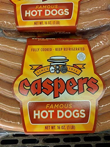 Caspers Famous Hot Dogs 16 Oz (4 Pack) by Caspers