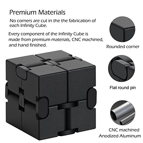 Zoejoy Infinity Cube Aluminum Alloy Fidget Cubes for ADD,ADHD,Anxiety, Austism Adults & Kids